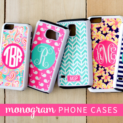 Monogram phone cases for Cell phone cover design ideas